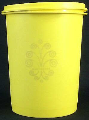 Vintage Yellow Tupperware 811-5 Yellow Servalier Canister 1970s 1980s