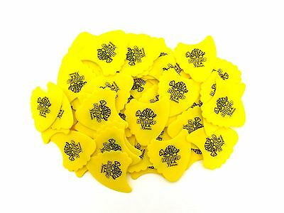Dunlop Guitar Picks  72 Picks  Tortex Fins   .73mm  Yellow