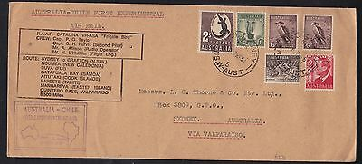 Australia to Chile 1951 RAAF Catalina Experimental Air Mail Flight cover