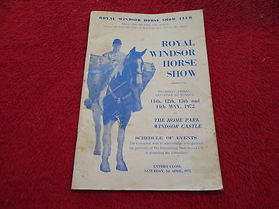 Royal Windsor Horse Show Schedule Of Events 1972