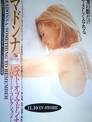 MADONNA - Something to Remember : 1995 Warner JAPAN promo-only POSTER very rare