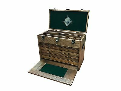 RDGTOOLS 8 Drawer Wooden Tool Chest cabinet woodwork tools jewelry box chest