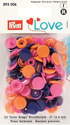 PRYM LOVE Colorsnap bunt / orange lila pink