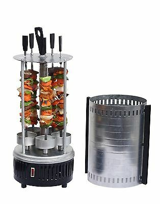 Electric Grill Table Chicken Gyros Doner Shashlik Barbecue Shish Kebab Skewers