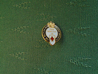 The British Red Cross Society - For 15 Years Service - Enamel Pin Badge