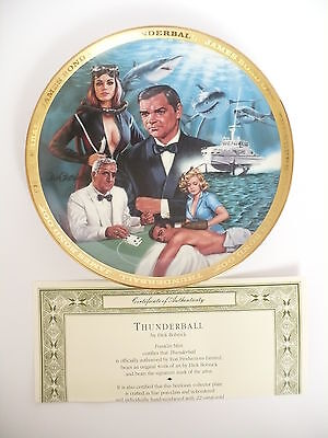 Franklin Mint James Bond Thunderball Plate With Certificate & Box