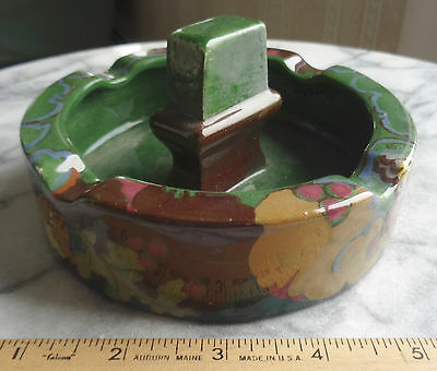 Early Gouda Ivora Ashtray with Match Strike Dark Green