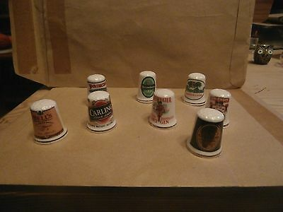 Thimbles  Eight  Beer   Guild Pieces   As Shown In Picture   No Paperwork