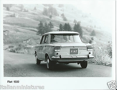 Fiat 1500 Rear View Interior View Original Photograph x 2 Mint Condition