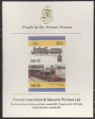 Nevis (2006) Locomotives - Belpaire  4-4-0  imperf on Format Int PROOF  CARD