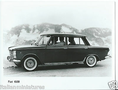 Fiat 1500 Side Press Photograph + Cut Through Ghost Drawing Mint Condition