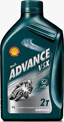 Shell Advance VSX 2T Semi Synthetic 2-Stroke Motorcycle Engine Oil 5 Litre 5L