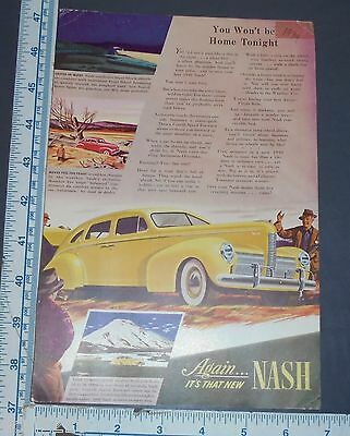 Vintage Original 1940 Nash Auto Car Ad