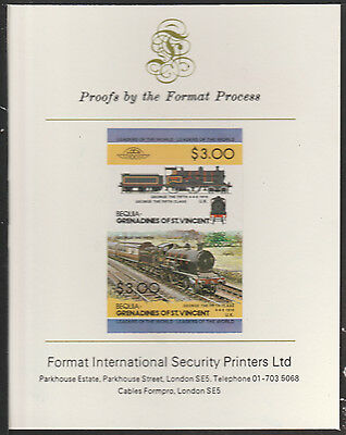 Bequia (2030) Locomotives #2 George the Fifth  imperf on Format PROOF  CARD