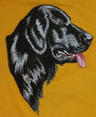 Embroidered Short-Sleeved T-Shirt - Flat-Coated Retriever BT3512  Sizes S - XXL
