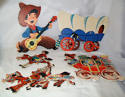 5 Vintage Dolly Toy Wall Hangings Decor Cowboy Western GVC