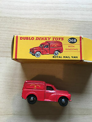 Dublo Dinky Toy Reference 068 Royal Mail with BLACK Wheels in Original Box RARE