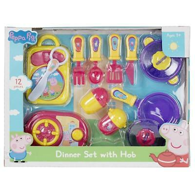 Peppa Pig Dinner Set With Hob Kids Cooking Play Set Official Gift Toy
