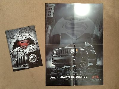 JEEP RENEGADE Dawn of Justice (Batman vs Superman) Limited Edition Poster - 2016