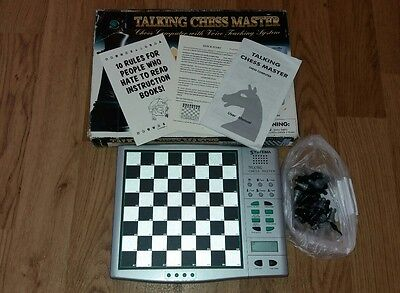 Electronic Chess Talking Chess Master Complete Krypton Systema Teaching System
