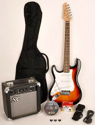 SX RST 3/4 3TS Left Handed Electric Guitar Package & AMP 3/4 Size