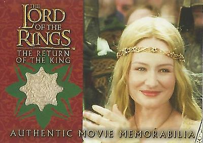 "Lord of the Rings Return of the King: ""Eowyn's Dress"" Memorabilia Costume Card"