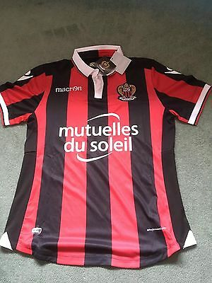 """OGC Nice Macron Home Shirt 2016 2017 Adult Small 36 /38"""" Chest New + Tagged"""