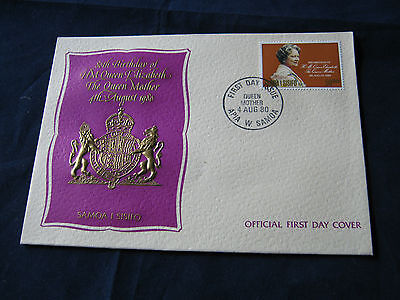 Samoa - FDC -1980 - 80th Birthday Queen Mother (1885)