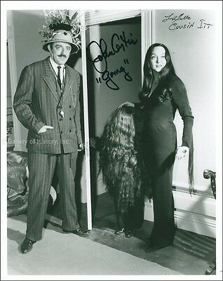 The Addams Family Tv Cast - Photograph Signed With Co-Signers