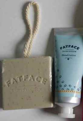 Lovely Fat Face Hand Lotion (75Ml) + Fat Face Soap On A Rope *new* *gift*
