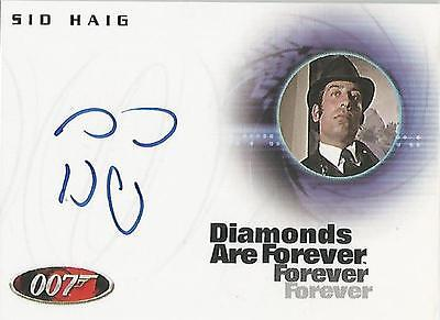"James Bond In Motion - A94 Sid Haig ""Slumber Inc Attendant"" Autograph Card"