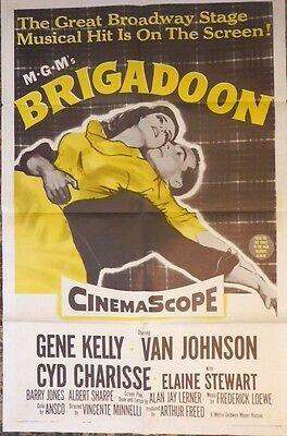 Brigadoon Movie Poster Authentic Vintage 1962 MGM Gene Kelly Musical