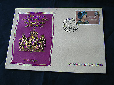 Gambia - FDC -1980 - 80th Birthday Queen Mother (1885)