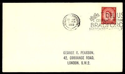 March 5, 1962 Bradford UK slogan cancel on cover to London