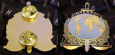 Interpol Police Badge Gold Plate Colored Cloisenamel Scroll Down for All Pix