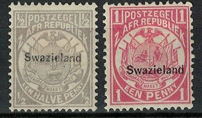 swaziland stamps overprint transvaal stamps 1890s mint mint hinged