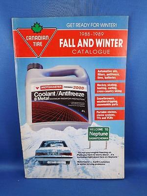 Canadian Tire Catalog Fall Winter 1988-89 Vintage Snowmobile Parts Vcr Fireplace