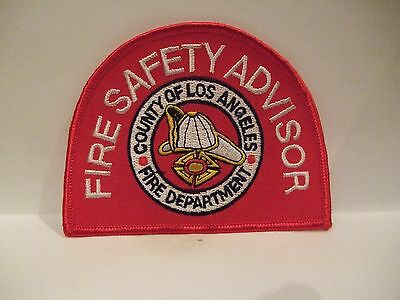 fire patch  FIRE SAFETY ADVISOR COUNTY OF LOS ANGLES CALIFORNIA