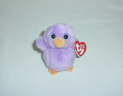 "Ty Lavender Basket Beanie Purple 4"" Chick"