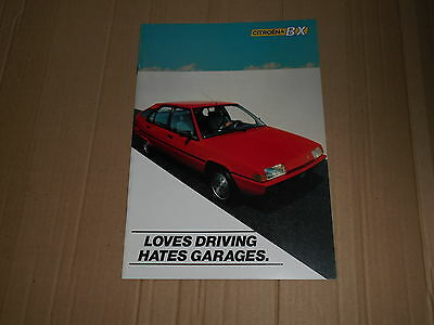 Citroen BX Range original colour sales brochure
