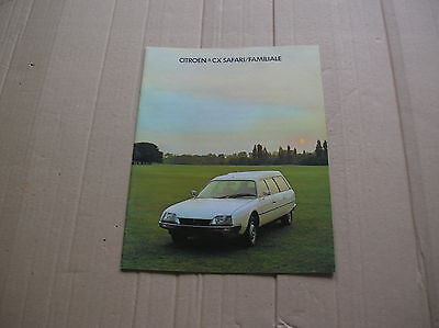 Citroen CX Safari & Familiale Range original colour sales brochure
