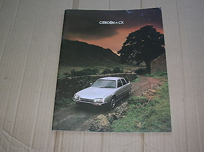 Citroen CX Range original colour sales brochure