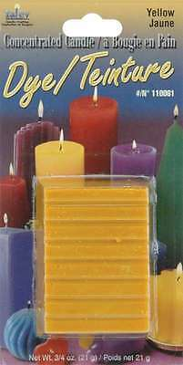 Concentrated Candle Dye 3/4 Ounce Blocks-Yellow 052124100081