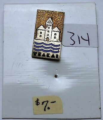 Vintage TRAKAI Island Castle Lithuania Lapel Pin-Back - Free Combined S/H