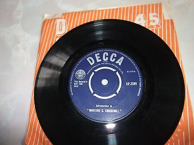 """Introduction To  """" Winston S. Churchill """" - One-Sided 45Rpm Single On Decca."""