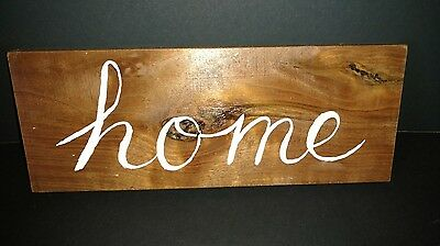 Hand Painted Wooden Sign (Walnut)   - Home