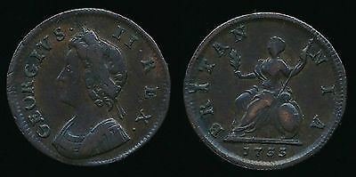 1733 George II FARTHING - Good Condition...Fast Post