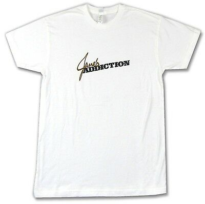 Jane's Addiction Classic Name Logo White T Shirt New Official Soft Band Merch