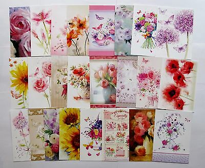 Hunkydory The Second Little Book of Flowers Card Toppers x 24 Sheets