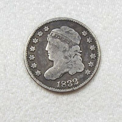 1832 Capped Bust Silver Half Dime VERY GOOD 5c